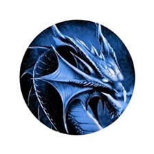 "Winter Dragon 3.5"" Button"