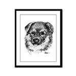 German Shepherd Puppy Framed Panel Print