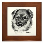 German Shepherd Puppy Framed Tile