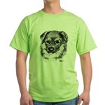 German Shepherd Puppy Green T-Shirt