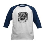 German Shepherd Puppy Kids Baseball Jersey