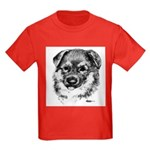 German Shepherd Puppy Kids Dark T-Shirt