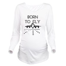 Born to Fly Long Sleeve Maternity T-Shirt