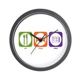 Eat Sleep News Wall Clock