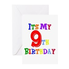 9th Birthday Greeting Cards (Pk of 10)
