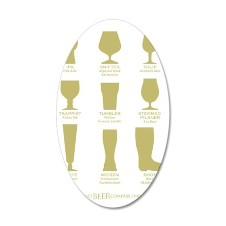 Proper Glassware 35x21 Oval Wall Decal