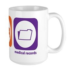 Eat Sleep Medical Records Mug
