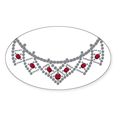1950s Ruby and Diamond Necklace Decal
