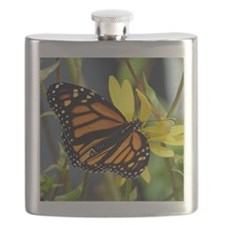 butterflies - sqrepillbox Flask