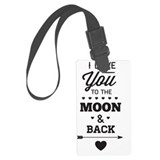 I love you to the moon and back Large