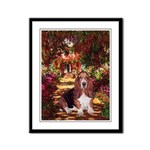 The Path & Basset Framed Panel Print