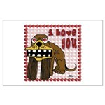 I Love You Dog Large Poster