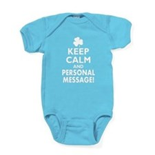 Personalized Irish Keep Calm and Carry On Baby Bod