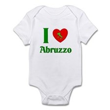 I Love Abruzzo Italy Infant Bodysuit
