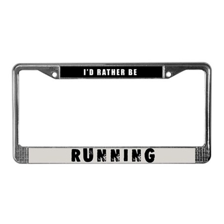 Running License Plate Frame
