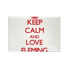 Keep calm and love Fleming Magnets