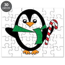 Candy Cane Penguin Puzzle