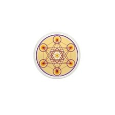 Metatron's Cube Mini Button