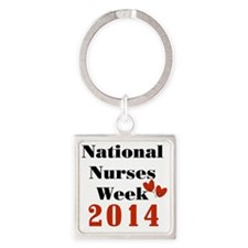 National Nurses Week 2014 Square Keychain