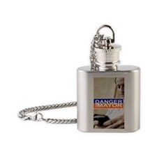 Carlos Danger for Mayor Flask Necklace