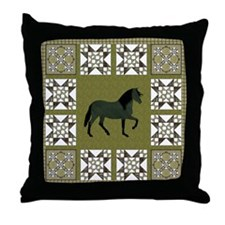 Peruvian Paso Gr Throw Pillow