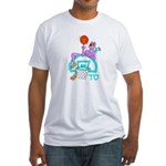 SABRA DOG(Basketball)Jewish/Israeli Fitted T-Shirt