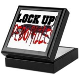 LOCK UP PEDOPHILES Keepsake Box