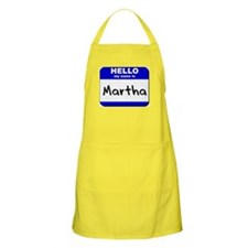 hello my name is martha  BBQ Apron