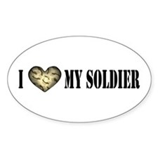 I HEART My Soldier Oval Decal