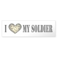 I HEART My Soldier Bumper Bumper Sticker