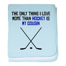 Hockey Cousin baby blanket