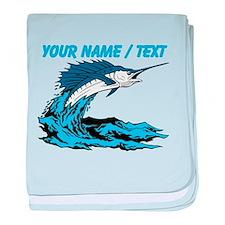 Custom Marlin Jumping baby blanket