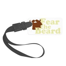 Fear the Beard - Brown Luggage Tag