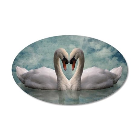 The Lovers 35x21 Oval Wall Decal
