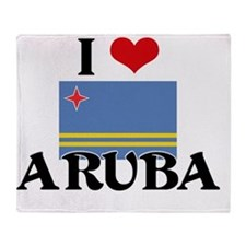 I HEART ARUBA FLAG Throw Blanket