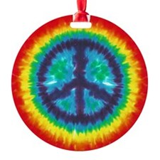 Tie Dye Peace Sign Ornament