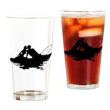 Couple Fishing Drinking Glass