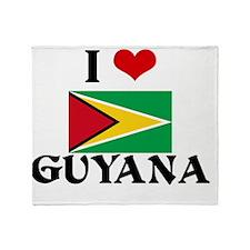 I HEART GUYANA FLAG Throw Blanket
