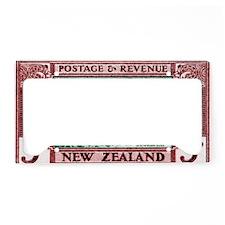 Antique 1935 New Zealand Swor License Plate Holder