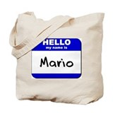 hello my name is mario Tote Bag