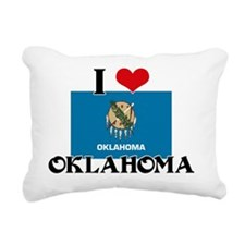 I HEART OKLAHOMA FLAG Rectangular Canvas Pillow