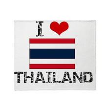 I HEART THAILAND FLAG Throw Blanket