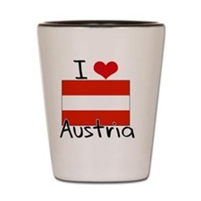 I HEART AUSTRIA FLAG Shot Glass