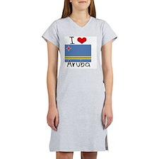 I HEART ARUBA FLAG Women's Nightshirt