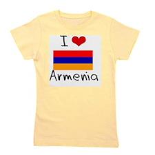 I HEART ARMENIA FLAG Girl's Tee