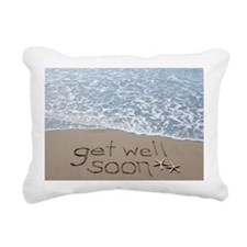 get well Rectangular Canvas Pillow