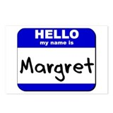 hello my name is margret  Postcards (Package of 8)