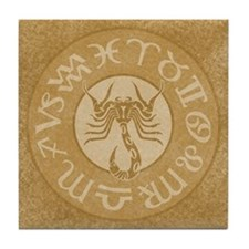 Scorpio Astrology Symbol Sign Tile Coaster
