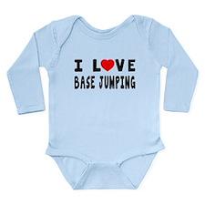 I Love Base Jumping Long Sleeve Infant Bodysuit