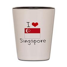 I HEART SINGAPORE FLAG Shot Glass